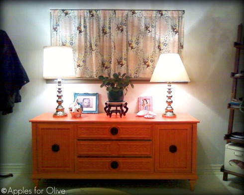 Apples for Olive entryway dresser credenza